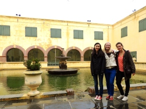 Caroline, myself and Thea in the Castle of Good Hope.