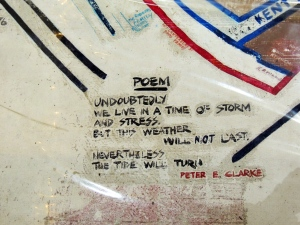 One of the poems on the map