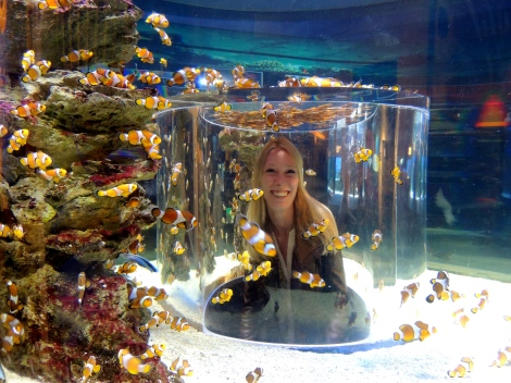 Nemo giving me a kiss.