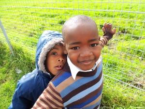 Two students at Walter Teka