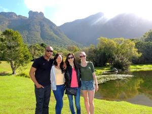 Dan, Hannah, Caroline, and myself entering Kirstenbosch