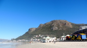 The beach at Muizenberg