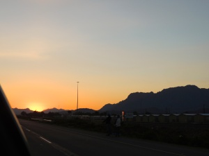 South African sunset to end our road trip