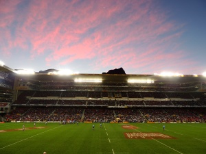 Newlands Stadium at sunset