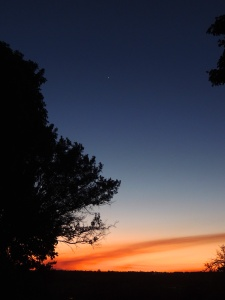 Sunset with Venus in the sky