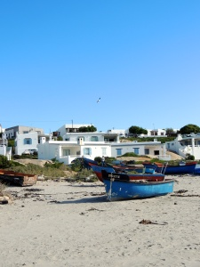 Boats on the beach in Paternoster