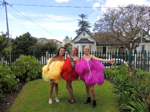 Loofah girls with a birthday loofah in the middle!