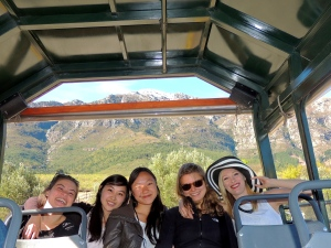 Thea, Caroline, Hannah, Julia and I on the tram