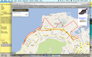 10.5ish km race route along the ocean