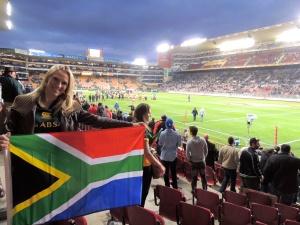 Rocking the SA flag