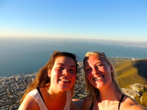 Thea and I at sunset on Lion's Head