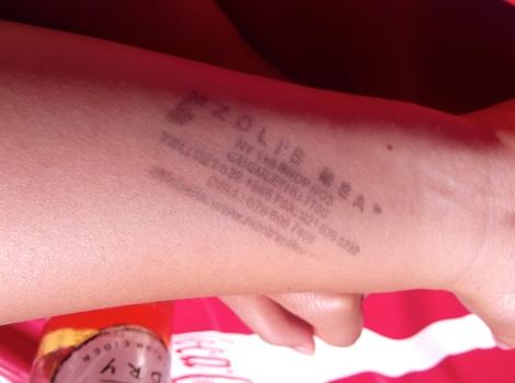 Mzoli's Meat stamp. They brand you