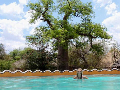 Biggest pool in the Kalahari!