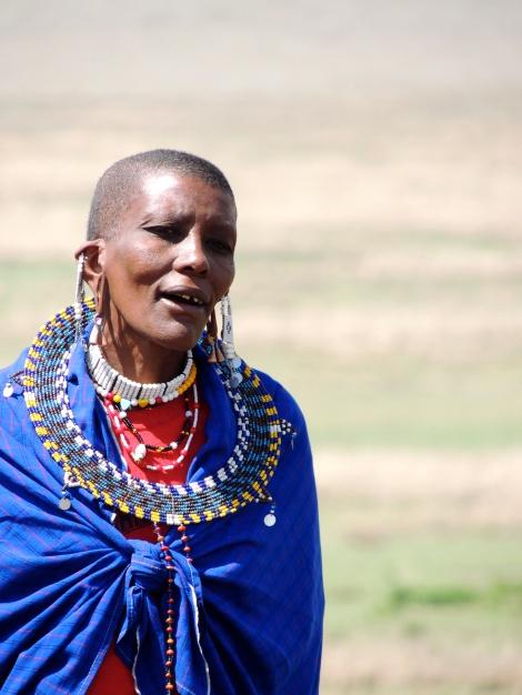 Masai woman singing
