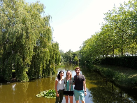 Cécile, me, and Ben, before the ducks came after me