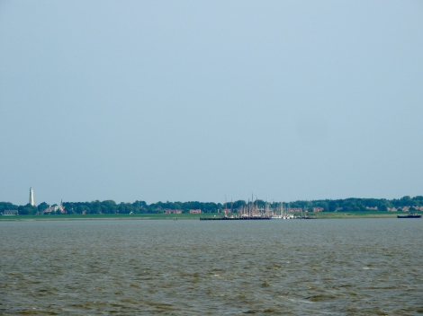 View of the island from the ferry