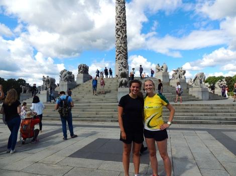 Running breaks for tourist photos