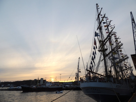 Kristiansand by sunset