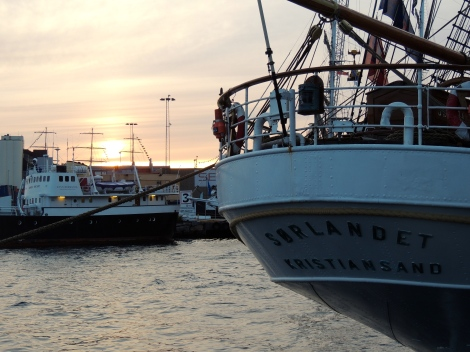 Kristiansand at sunset