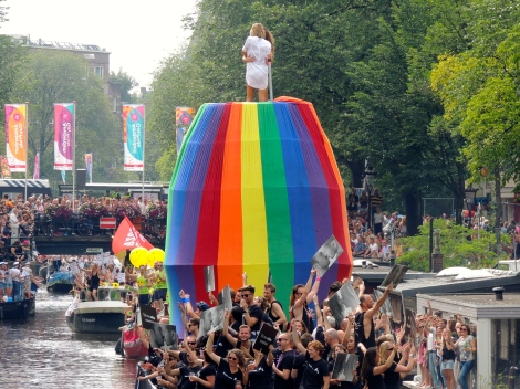 Winner of best social message, COC Nederland, with the message 'time for real acceptance.'