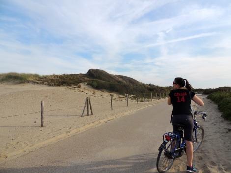 Biking those dunes!