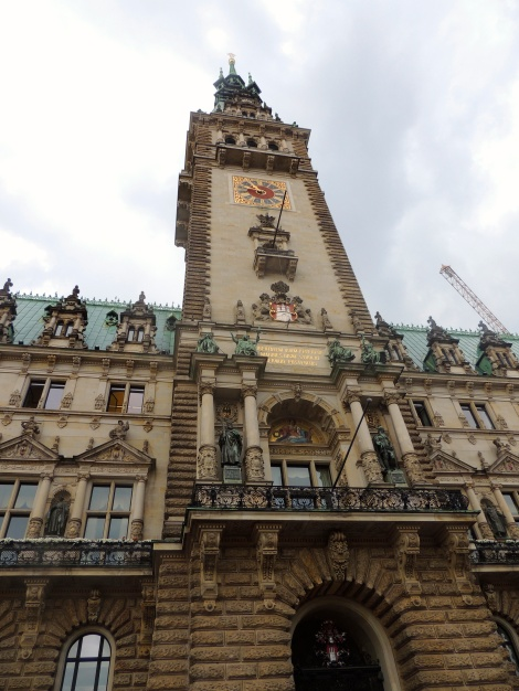 Outside the Rathaus (city hall) of Hamburg