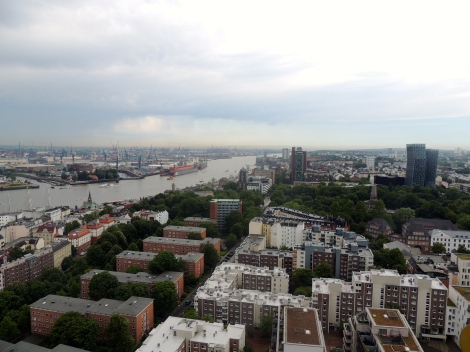 Hamburg from above - view of the dancing buildings!