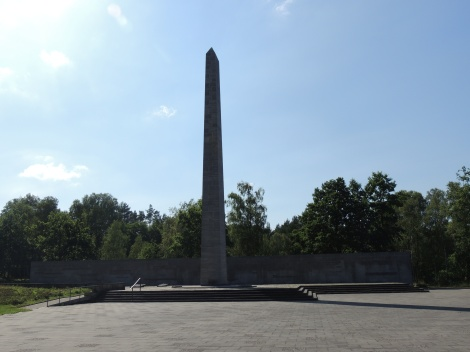 The overall memorial at Bergen-Belsen