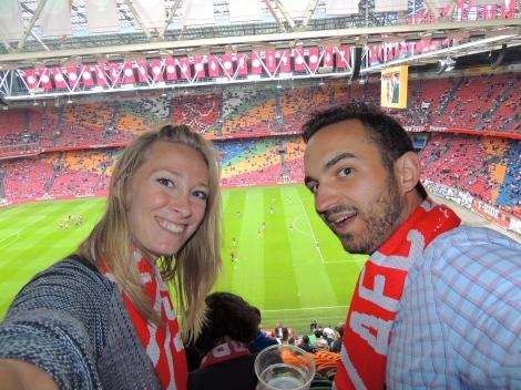 Stadium selfie