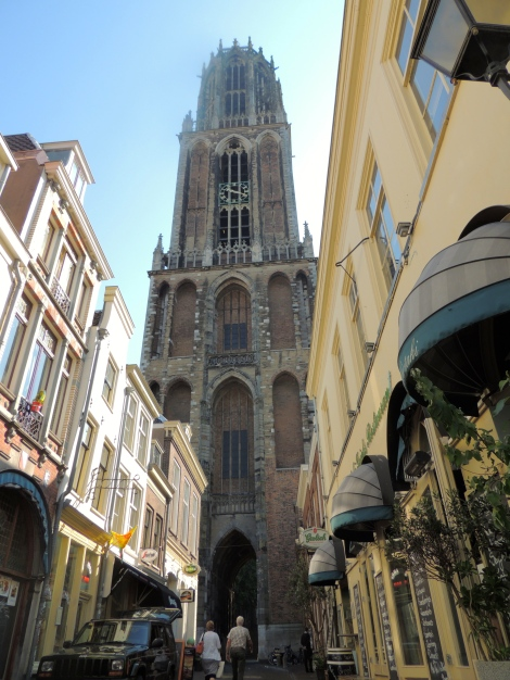 View of the tower from the streets of Utrecht