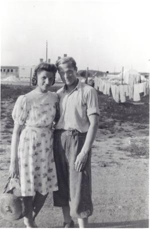 Babcia and Dziadzius in the DP camp at Bergen-Belsen