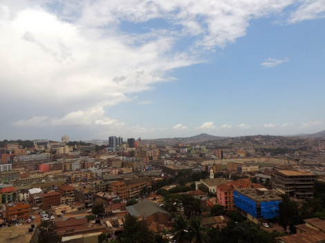 Views of Kampala from the minaret (50.5m high).